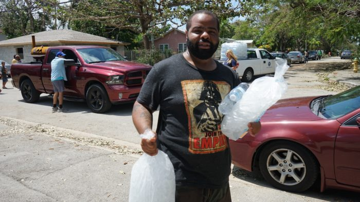 man with ice